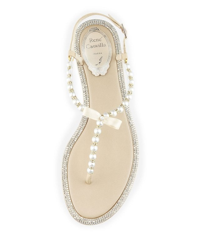 PEARL FASHION  Pearly   Crystal Flat Thong Sandals at Neiman Marcus ...
