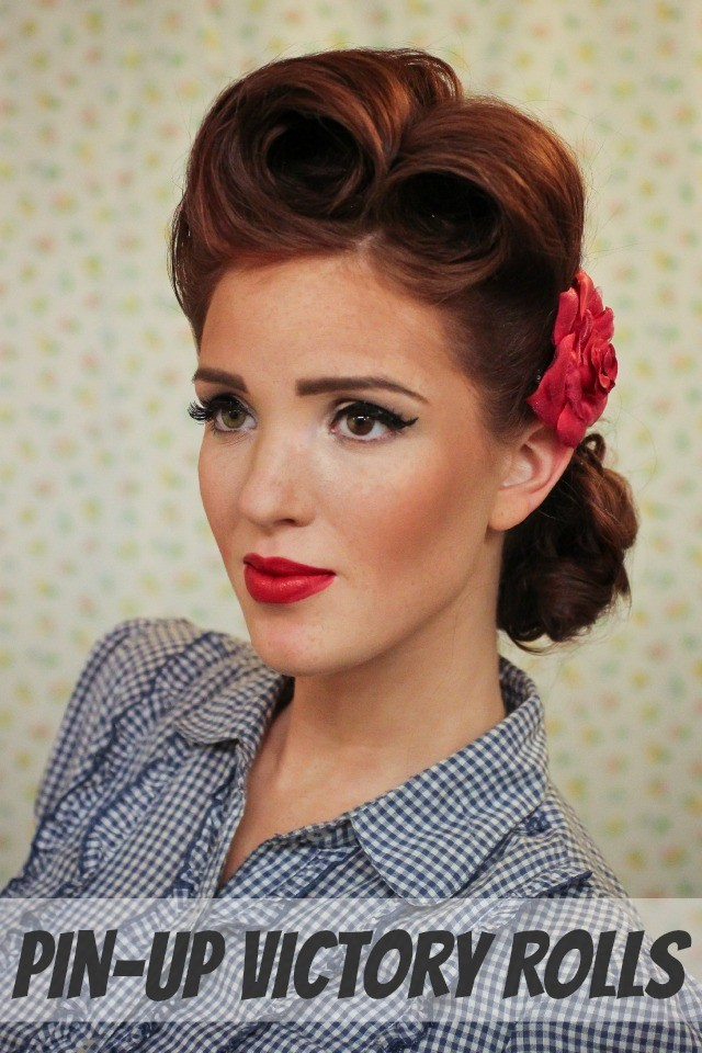 Hair Diy Victory Rolls A Pin Up Hair Tutorial By Emily