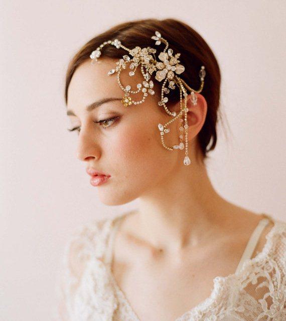 "Pearl Headpieces For Brides: PEARL FASHION: ""Twigs & Honey"" Creates Beautiful Bridal"