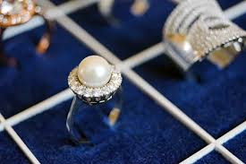 diamond pearl rings
