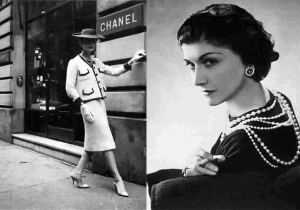 coco chanel wearing pearls