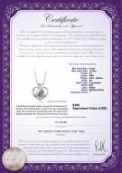 product certificate: FW-W-AA-910-P-Marlina