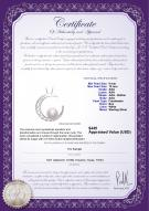 product certificate: FW-W-AAA-910-P-Moon
