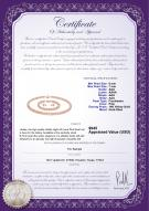product certificate: P-AAA-67-S