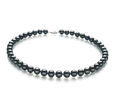 8.5-9mm AA Quality Freshwater Cultured Pearl Necklace in Black