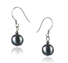 7-8mm AAAA Quality Freshwater Cultured Pearl Earring Pair in Sandra White