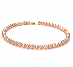 7-8mm AA Quality Freshwater Cultured Pearl Necklace in Pink