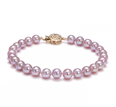 6-7mm AAA Quality Freshwater Cultured Pearl Bracelet in Lavender