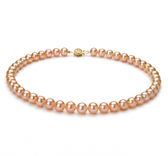8-8.5mm AAA Quality Freshwater Cultured Pearl Necklace in Pink