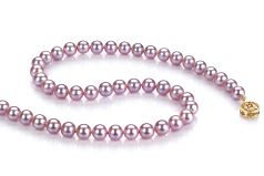6-6.5mm AAAA Quality Freshwater Cultured Pearl Necklace in Lavender