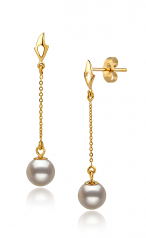 6-7mm AA Quality Japanese Akoya Cultured Pearl Set in Tin Cup White