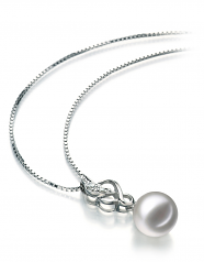 8-9mm AA Quality Japanese Akoya Cultured Pearl Pendant in Naomi White