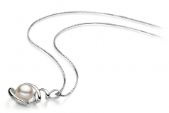 8-9mm AAA Quality Japanese Akoya Cultured Pearl Pendant in Eldova White
