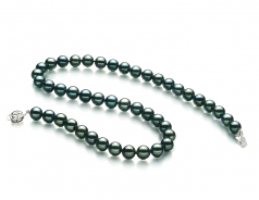 8.5-9mm AA Quality Japanese Akoya Cultured Pearl Necklace in Black