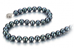 8.5-9mm AAA Quality Japanese Akoya Cultured Pearl Necklace in Black