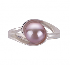 6-7mm AAA Quality Freshwater Cultured Pearl Ring in Clare Lavender