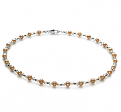 6-7mm A Quality Freshwater Cultured Pearl Necklace in Paige Pink