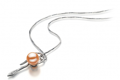 7-8mm AAAA Quality Freshwater Cultured Pearl Pendant in Jennifer Pink