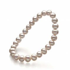 6-7mm A Quality Freshwater Cultured Pearl Bracelet in Bliss White