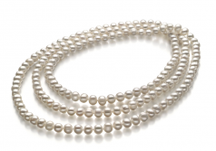 6-7mm A Quality Freshwater Cultured Pearl Necklace in Betty White