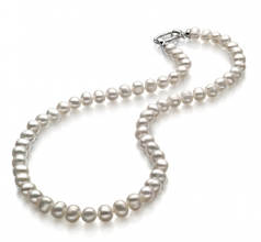 8-9mm A Quality Freshwater Cultured Pearl Necklace in Joyce White