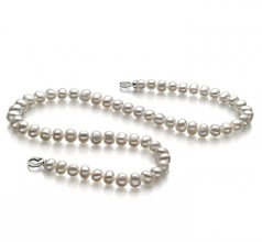 8-9mm A Quality Freshwater Cultured Pearl Necklace in Sinead White