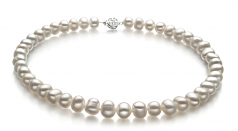 8-9mm A Quality Freshwater Cultured Pearl Set in Kaitlyn White