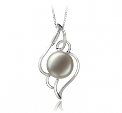 12-13mm AA Quality Freshwater Cultured Pearl Pendant in Hannah White
