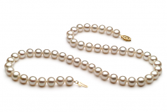 7.5-8.5mm AA Quality Freshwater Cultured Pearl Necklace in White