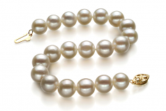 8.5-9mm AA Quality Freshwater Cultured Pearl Bracelet in White
