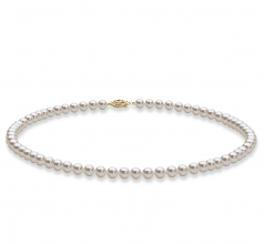 5-6mm AAA Quality Freshwater Cultured Pearl Set in White
