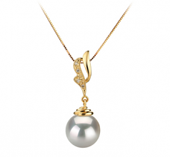 10-11mm AAA Quality South Sea Cultured Pearl Pendant in Bianka White