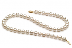 7-8mm A+ Quality Chinese Akoya Cultured Pearl Necklace in White