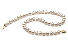 7-8mm AA+ Quality Chinese Akoya Cultured Pearl Necklace in White