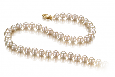 5-5.5mm AAAA Quality Freshwater Cultured Pearl Necklace in White