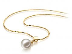 7-8mm AAAA Quality Freshwater Cultured Pearl Pendant in Georgia White