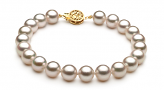 7-7.5mm AA Quality Japanese Akoya Cultured Pearl Set in White