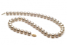 8.5-9mm AA Quality Freshwater Cultured Pearl Necklace in White