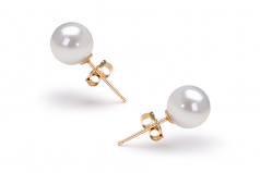 6.5-7mm AAA Quality Japanese Akoya Cultured Pearl Earring Pair in White