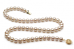 6-7mm AAA Quality Freshwater Cultured Pearl Necklace in White