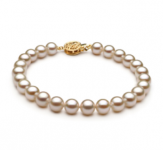 6-7mm AAAA Quality Freshwater Cultured Pearl Bracelet in White