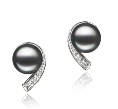 7-8mm AA Quality Freshwater Cultured Pearl Set in Claudia Black