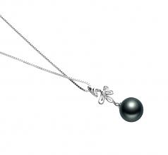 10-11mm AAA Quality Tahitian Cultured Pearl Pendant in Phoenix Black
