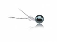 9-10mm AAA Quality Tahitian Cultured Pearl Pendant in Kimberly Black