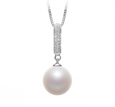 10-11mm AAAA Quality Freshwater Cultured Pearl Pendant in Talitha White