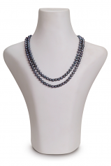 6-7mm AA Quality Freshwater Cultured Pearl Necklace in Alexandra Black
