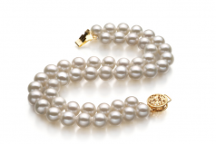 6-7mm AA Quality Freshwater Cultured Pearl Bracelet in Lola White