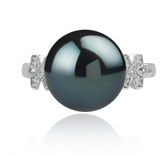 12-13mm AA Quality Tahitian Cultured Pearl Ring in Ireland Black