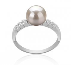7-8mm AAA Quality Japanese Akoya Cultured Pearl Ring in Marian White