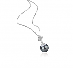7-8mm AA Quality Japanese Akoya Cultured Pearl Pendant in Coralie Black